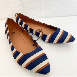 H&M / Striped Ballet Flats - Size 39